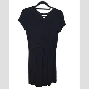Olive & Oak Drawstring Waist T Shirt Dress Black S
